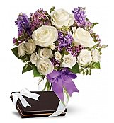 Flower Bouquets: Enchanted Roses With Chocolates