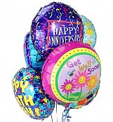 Balloons: Balloon Bouquet-6 Mylar