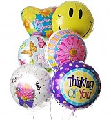 Balloons: Thinking of You Balloon Bouquet-6 Mylar