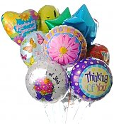 Balloons: Thinking of You Balloon Bouquet-12 Mylar