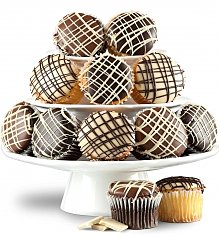 Cakes and Desserts: One Dozen Chocolate Dipped Cupcakes