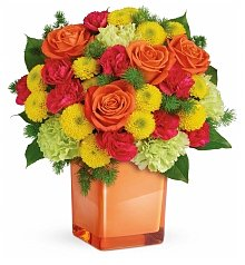 Roses: Citrus Smiles Bouquet
