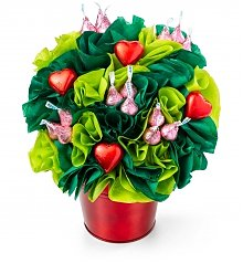 Chocolate & Sweet Baskets: BonBon Blooms™ Hugs & Kisses Bouquet