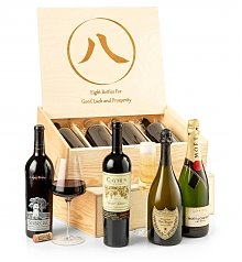 Luxury Wine Baskets: Lucky 8 Sommelier's Fine Wine Crate
