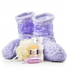 Spa Gift Baskets: Spa Booties with Lavender Aromatherapy Inserts