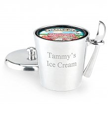 Personalized Keepsake Gifts: Engraved Ice Cream Bucket with Scoop